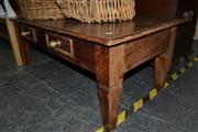 Sale 8013 - Lot 1101 - Timber Coffee Table w 2 Drawers