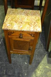 Sale 8093 - Lot 1510 - Marble Top Bedside with Rouge Tint
