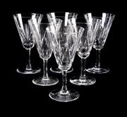 Sale 8224A - Lot 49 - Set of six cut crystal red wine glasses by 'Villeroy & Boch