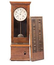 Sale 8287 - Lot 1035 - A Large Timber Bundy Clock by Simplex Time Recorder Co. Ltd