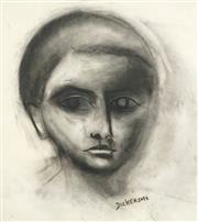 Sale 8538 - Lot 526 - Robert Dickerson (1924 - 2015) - The Boy 75.5 x 54.5cm