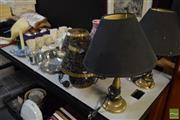 Sale 8530 - Lot 2401 - A Group Lot of Lighting Wares, including Pairs of Lamps and Candles etc