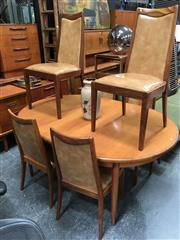 Sale 8859 - Lot 1067 - G-Plan Teak Table with a Set of 6 Vinyl Upholstered Chairs