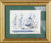 Sale 8948 - Lot 76 - Artist unknown - Dutch recruits from the military doctor 14cm x 18cm