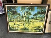 Sale 9045 - Lot 2062 - Pro Hart Decorative Print (frame: 66 x 86cm)