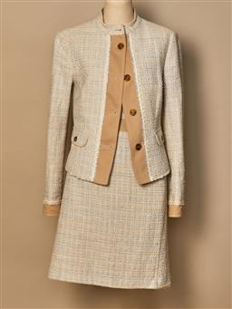 Sale 9093F - Lot 90 - A United colours of Benetton two piece beige and blue suit, size 42