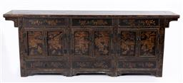 Sale 9135H - Lot 76 - A 19Th Century antique Chinese cabinet. 2.45M Width, 50Cm Depth, 93Cm Height