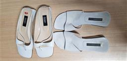Sale 9176 - Lot 2245 - 2 pairs Shoes in One Plastic Box: Gary Castles White Slip-Ons size 39&1/2 & Studio Design White Slip-Ons size 8&1/2