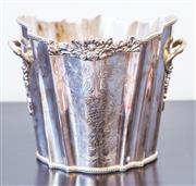 Sale 8279A - Lot 85 - A Royal Queen silver plated ice bucket, with floral embellishments, height 17cm