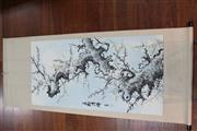 Sale 8473 - Lot 63 - Chinese Scroll Depicting Flowering Trees