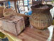 Sale 8566 - Lot 1228 - Collection of Wicker Baskets and Hampers