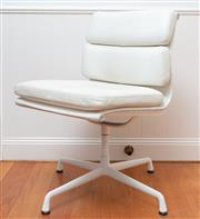 Sale 8694A - Lot 4 - An Eames cream leather office chair