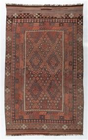 Sale 8760C - Lot 26 - An Afghan Hand Woven Kilim Natural Dyes 100% Wool, 378 x 238cm