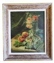 "Sale 8888H - Lot 70 - ""Nature morte aux fleurs"" by Ernest Romanet 1876 – 1956 French oil on canvas signed 46 x 38 cm"