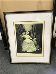 Sale 9045 - Lot 2063 - Pair of Norman Lindsay Decorative Prints (1 - frame broken)