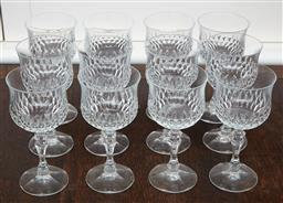 Sale 9081H - Lot 30 - A set of 12 red wine glasses by zweisel.