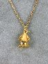Sale 3682 - Lot 569 - A 9CT GOLD NECKLET WITH A PENGUIN CHARM.