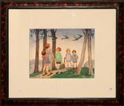 Sale 8107B - Lot 88 - ETHEL LOUISE SPOWERS (1890-1947) The Enchanted Birds watercolour and gouache on paper  24.5 x 32cm signed & dated lower left