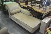 Sale 8272 - Lot 1033 - Green Upholstered Chaise Longue