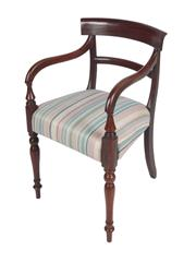 Sale 8379A - Lot 94 - A Regency mahogany Arm Chair  English circa 1815  H:  83 W: 50 D: 45