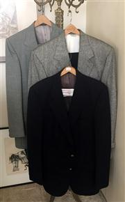 Sale 8369A - Lot 394 - A Burberry suit, together with a Burberry jacket and a Bill Blass jacket