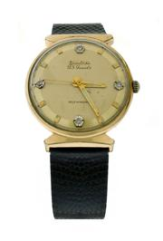 Sale 8406A - Lot 9 - Vintage mens Bulova diamond dial automatic wristwatch, 33 mm, gold plated, 23 jewels, in working order