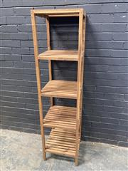 Sale 9051 - Lot 1018 - Tall Timber Tiered Stand (H168 x D43cm)