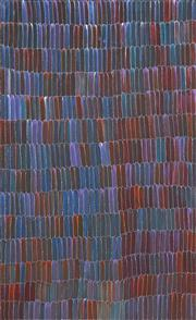 Sale 9084 - Lot 520 - Jeannie Mills Pwerle (1965 - ) - Bush Yam 154 x 94.5 cm (stretched and ready to hang)