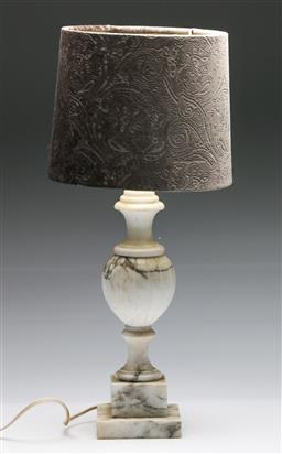 Sale 9175 - Lot 30 - A Marble Classical Form Table Lamp (H: with shade 55cm)