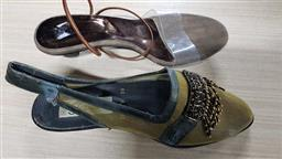 Sale 9176 - Lot 2239 - 2 Shoes in Plastic Boxes: Gigi Small Heeled Shoes size 9 & Beaded Sling-Backs size 39