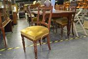 Sale 7987A - Lot 1369 - Set of 4 Timber Framed Dining Chairs