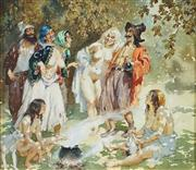 Sale 8549 - Lot 557 - Norman Lindsay (1879 - 1969) - Gypsy Laughter, c1940 30 x 34cm