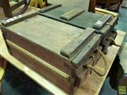 Sale 8545 - Lot 1079 - Pair of Rustic Ammo Boxes