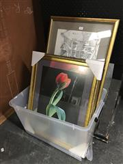 Sale 8750 - Lot 2060 - Box of Assorted Decorative Prints and Countryscape Oil Paintings