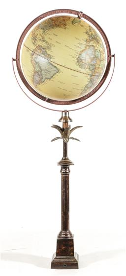 Sale 9156 - Lot 49 - A globe on stand (H:94cm)