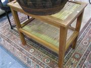 Sale 7932A - Lot 1149 - Tiered Occasional Table with Cane Surface