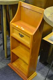 Sale 8134 - Lot 1073 - Timber Single Drawer Bookcase