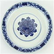 Sale 8372 - Lot 6 - Bianfu Blue & White Plate