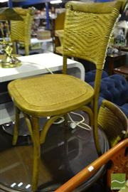 Sale 8472 - Lot 1069 - Set of 6 Timber Dining Chair with Rattan Back and Seat