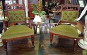 Sale 8566 - Lot 1360 - Pair of Victorian Lounge Chairs