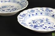 Sale 8586 - Lot 197 - Pair of Blue and White Meisen Plates ( Dia 24cm)