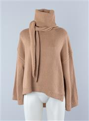 Sale 8800F - Lot 37 - A Scanlan and Theodore merino wool blend roll neck sweater in dusky pink, size small