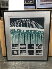 Sale 9036 - Lot 2057 - Louise Fowler-Smith, Sydney Harbour Bridge, 21,982,026, 1982, limited edition print, 89 x 76cm, signed lower right