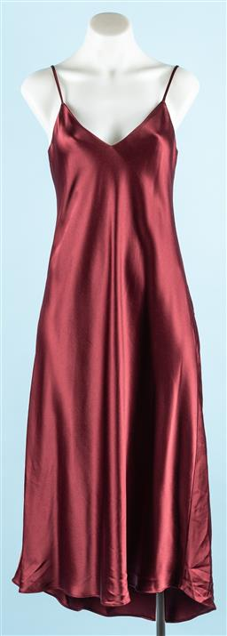 Sale 9091F - Lot 14 - A FIRST EDITION BORDEAUX slip dress new with tags size 8