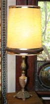 Sale 7670A - Lot 174 - Brass and Onyx table lamp and shade