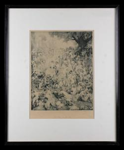 Sale 7923 - Lot 581 - Norman Lindsay - The Duke in Arcady 31.5 x 24.5cm