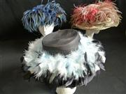 Sale 7982B - Lot 66 - Three hats with feathers