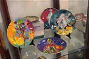 Sale 7982 - Lot 93 - Set of 4 Royal Doulton Commedia DellArte Plates by Leroy Neiman and other Collector Plates