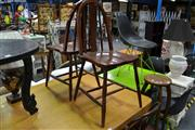Sale 8019 - Lot 1024 - Pair of Timber Framed Arched Back Chairs