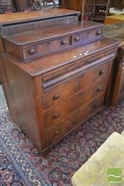 Sale 8255 - Lot 1060 - 19th Century Continental Mahogany Chest of Drawer, with two recessed & four long drawers